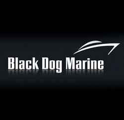 Logo identity design for Black Dog Marine Boat Engine Sales and Repair Looe Harbour Cornwall