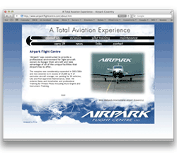 airpark flight centre web site design coventry private airfield airport storage