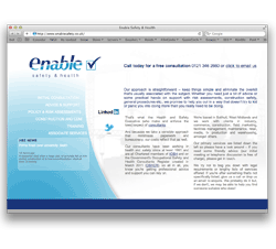 bespoke website design for health and safety consultant provider