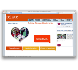 Website design and development for Relate Charity